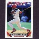 1993 Topps Baseball #754 Brian Jordan - St. Louis Cardinals