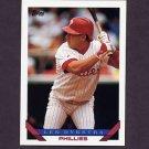 1993 Topps Baseball #740 Len Dykstra - Philadelphia Phillies