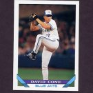 1993 Topps Baseball #720 David Cone - Toronto Blue Jays