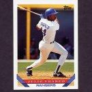 1993 Topps Baseball #670 Julio Franco - Texas Rangers