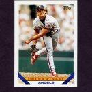 1993 Topps Baseball #605 Chuck Finley - California Angels
