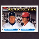 1993 Topps Baseball #510 Buck Showalter MG Yankees / Jim Fregosi MG Phillies