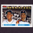 1993 Topps Baseball #506 Sparky Anderson MG Tigers / Art Howe MG Astros