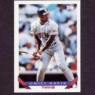 1993 Topps Baseball #455 Chili Davis - Minnesota Twins