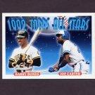 1993 Topps Baseball #407 Barry Bonds - Pittsburgh Pirates / Joe Carter - Toronto Blue Jays AS