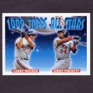 1993 Topps Baseball #406 Larry Walker - Montreal Expos / Kirby Puckett - Minnesota Twins AS