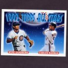 1993 Topps Baseball #402 Ryne Sandberg - Chicago Cubs / Carlos Baerga - Cleveland Indians AS