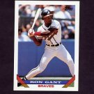 1993 Topps Baseball #393 Ron Gant - Atlanta Braves