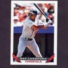1993 Topps Baseball #386 Ray Lankford - St. Louis Cardinals