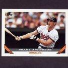 1993 Topps Baseball #355 Brady Anderson - Baltimore Orioles