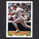 1993 Topps Baseball #127 Carney Lansford - Oakland A's