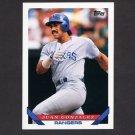 1993 Topps Baseball #034 Juan Gonzalez - Texas Rangers