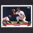 1993 Topps Baseball #032 Don Mattingly - New York Yankees