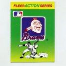 1990 Fleer Baseball Action Series Team Logo Stickers Atlanta Braves Team Logo