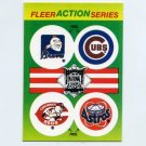 1990 Fleer Baseball Action Series Team Logo Stickers Braves / Cubs / Reds / Astros Team Logos