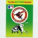 1990 Fleer Baseball Action Series Team Logo Stickers Baltimore Orioles Team Logo