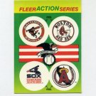 1990 Fleer Baseball Action Series Team Logo Stickers Orioles/Red Sox/White Sox/Angels Team Logos