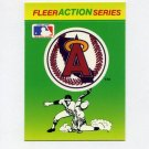 1990 Fleer Baseball Action Series Team Logo Stickers California Angels Team Logo