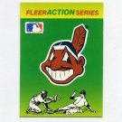1990 Fleer Baseball Action Series Team Logo Stickers Cleveland Indians Team Logo