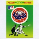 1990 Fleer Baseball Action Series Team Logo Stickers Houston Astros Team Logo