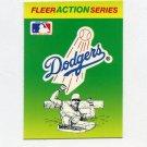 1990 Fleer Baseball Action Series Team Logo Stickers Los Angeles Dodgers Team Logo