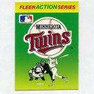 1990 Fleer Baseball Action Series Team Logo Stickers Minnesota Twins Team Logo