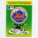 1990 Fleer Baseball Action Series Team Logo Stickers New York Mets Team Logo