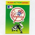 1990 Fleer Baseball Action Series Team Logo Stickers New York Yankees Team Logo