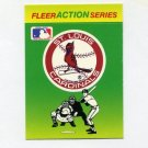 1990 Fleer Baseball Action Series Team Logo Stickers St. Louis Cardinals Team Logo