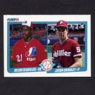 1990 Fleer Baseball #653 Delino DeShields RC / Jason Grimsley