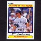 1990 Fleer Baseball #626 Don Mattingly - New York Yankees