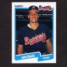 1990 Fleer Baseball #595 John Smoltz - Atlanta Braves