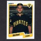 1990 Fleer Baseball #477 Rick Reed RC - Pittsburgh Pirates