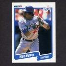 1990 Fleer Baseball #404 Eddie Murray - Los Angeles Dodgers