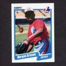 1990 Fleer Baseball #347 Marquis Grissom RC - Montreal Expos