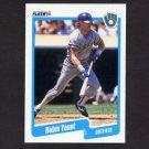 1990 Fleer Baseball #340 Robin Yount - Milwaukee Brewers