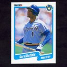 1990 Fleer Baseball #336 Gary Sheffield - Milwaukee Brewers