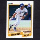 1990 Fleer Baseball #103 George Brett - Kansas City Royals
