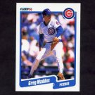 1990 Fleer Baseball #037 Greg Maddux - Chicago Cubs