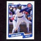 1990 Fleer Baseball #029 Andre Dawson - Chicago Cubs