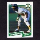1990 Fleer Baseball #010 Rickey Henderson - Oakland A's