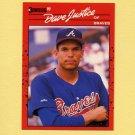 1990 Donruss Baseball #704 David Justice RC - Atlanta Braves