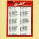 1990 Donruss Baseball #600A Checklist 538-639