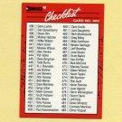 1990 Donruss Baseball #500A Checklist 436-537