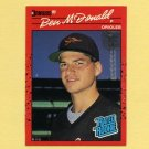 1990 Donruss Baseball #032 Ben McDonald RC - Baltimore Orioles