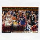 1997-98 Press Pass Basketball Red Zone #43 Jacque Vaughn / Chauncey Billups / Tony Battie