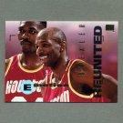 1994-95 Emotion Basketball #036 Clyde Drexler with Hakeem Olajuwon - Houston Rockets