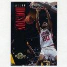 1994-95 Skybox Premium Basketball #049 Allan Houston - Detroit Pistons