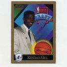 1990-91 SkyBox Basketball #356 Kendall Gill RC - Charlotte Hornets VgEx