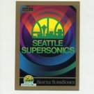1990-91 SkyBox Basketball #352 Seattle Supersonics Team Checklist